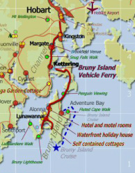 Map of Bruny Island