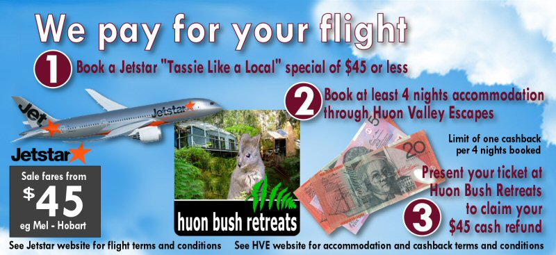 Free flight to Tasmania